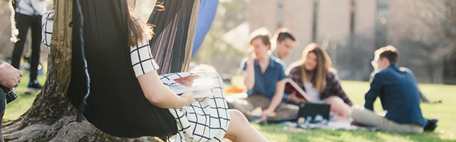 Students enjoying the outdoors.